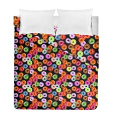 Colorful Yummy Donuts Pattern Duvet Cover Double Side (full/ Double Size) by EDDArt