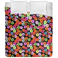 Colorful Yummy Donuts Pattern Duvet Cover Double Side (california King Size)