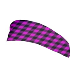 Lumberjack Fabric Pattern Pink Black Stretchable Headband