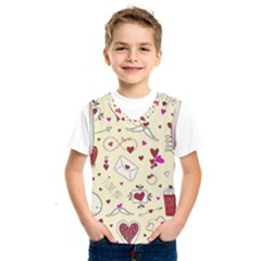 Valentinstag Love Hearts Pattern Red Yellow Kids  Sportswear