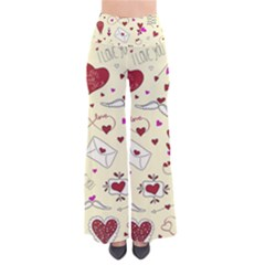 Valentinstag Love Hearts Pattern Red Yellow Pants by EDDArt
