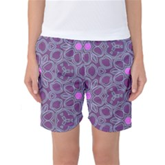 Floral Pattern Women s Basketball Shorts by Valentinaart