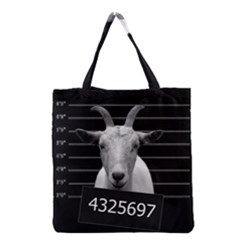 Criminal Goat  Grocery Tote Bag by Valentinaart