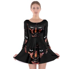 Wild Child  Long Sleeve Skater Dress by Valentinaart