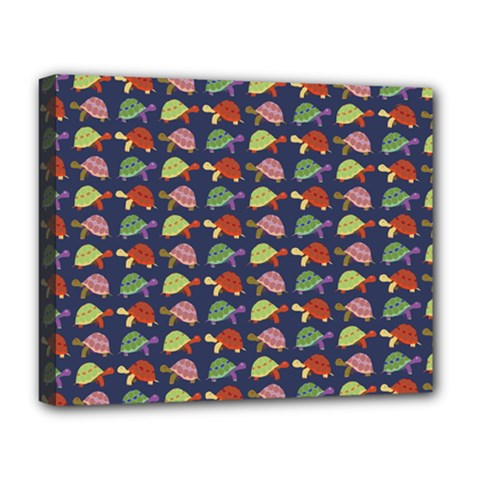 Turtle Pattern Deluxe Canvas 20  X 16