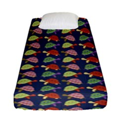 Turtle Pattern Fitted Sheet (single Size)