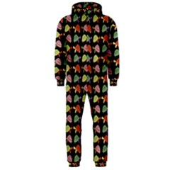 Turtle Pattern Hooded Jumpsuit (men)