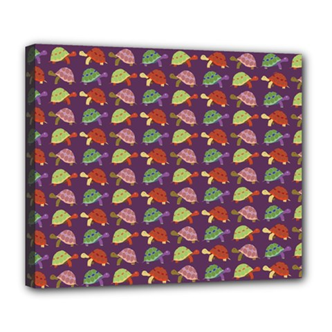 Turtle Pattern Deluxe Canvas 24  X 20