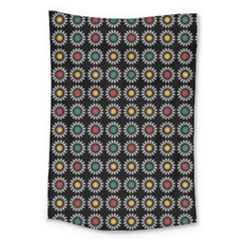 White Daisies Pattern Large Tapestry