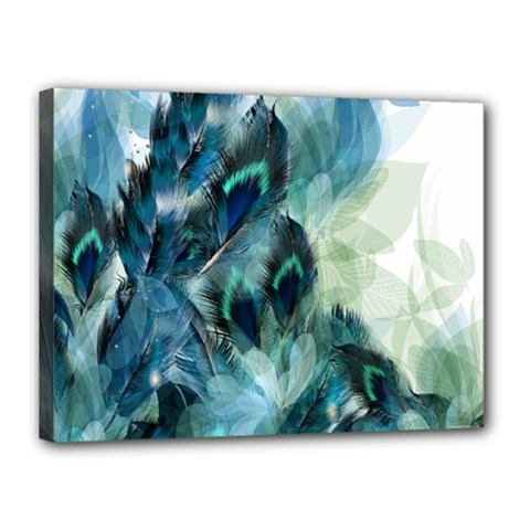Flowers And Feathers Background Design Canvas 16  X 12  by TastefulDesigns