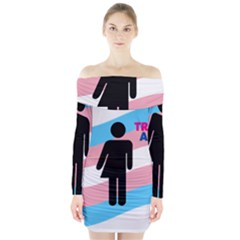 Transgender  Long Sleeve Off Shoulder Dress