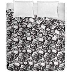 Skulls Pattern  Duvet Cover Double Side (california King Size) by Valentinaart