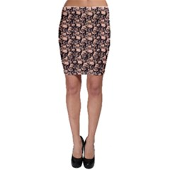 Skulls Pattern  Bodycon Skirt