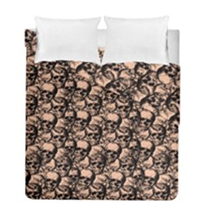 Skulls Pattern  Duvet Cover Double Side (full/ Double Size) by Valentinaart