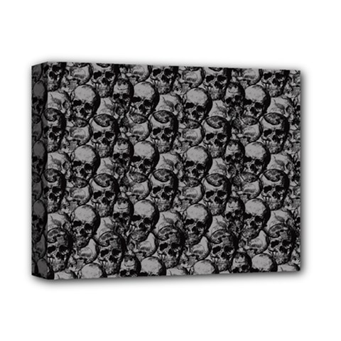 Skulls Pattern  Deluxe Canvas 14  X 11  by Valentinaart