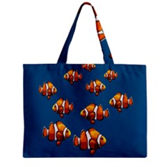 Clown Fish Zipper Mini Tote Bag by Valentinaart
