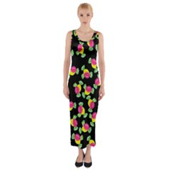 Candy Pattern Fitted Maxi Dress by Valentinaart