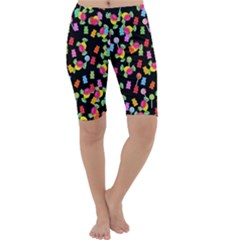 Candy Pattern Cropped Leggings
