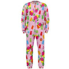 Candy Pattern Onepiece Jumpsuit (men)  by Valentinaart
