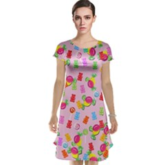 Candy Pattern Cap Sleeve Nightdress by Valentinaart