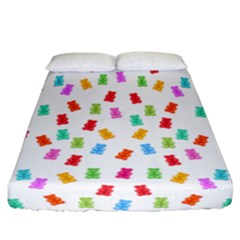 Candy Pattern Fitted Sheet (california King Size) by Valentinaart