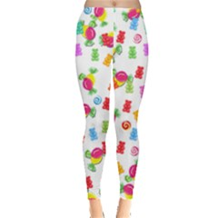 Candy Pattern Leggings  by Valentinaart