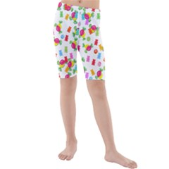 Candy Pattern Kids  Mid Length Swim Shorts by Valentinaart