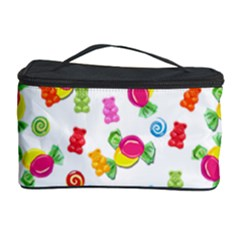 Candy Pattern Cosmetic Storage Case by Valentinaart
