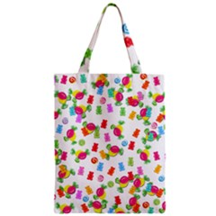 Candy Pattern Zipper Classic Tote Bag by Valentinaart