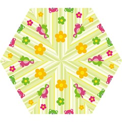 Animals Bear Flower Floral Line Red Green Pink Yellow Sunflower Star Mini Folding Umbrellas by Mariart