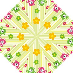 Animals Bear Flower Floral Line Red Green Pink Yellow Sunflower Star Hook Handle Umbrellas (small) by Mariart