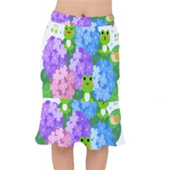 Animals Frog Face Mask Green Flower Floral Star Leaf Music Mermaid Skirt