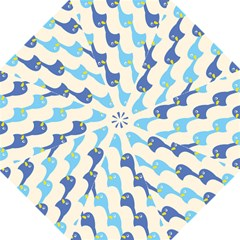 Animals Penguin Ice Blue White Cool Bird Straight Umbrellas by Mariart