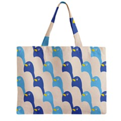 Animals Penguin Ice Blue White Cool Bird Zipper Mini Tote Bag by Mariart