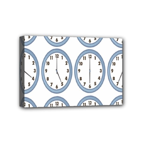 Alarm Clock Hour Circle Mini Canvas 6  X 4  by Mariart