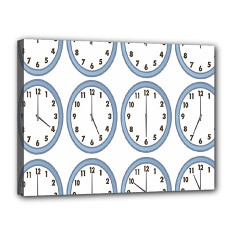 Alarm Clock Hour Circle Canvas 16  X 12  by Mariart
