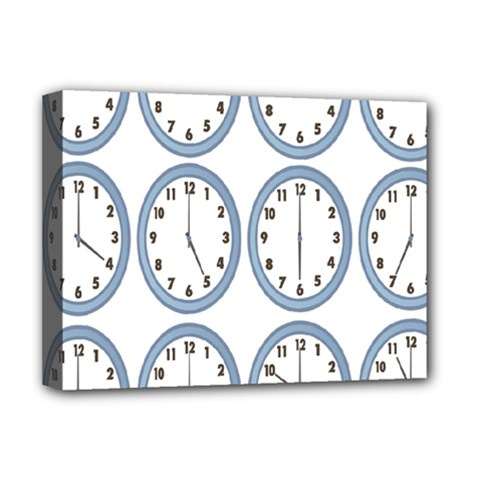 Alarm Clock Hour Circle Deluxe Canvas 16  X 12   by Mariart