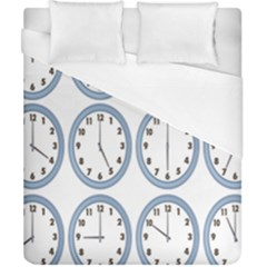 Alarm Clock Hour Circle Duvet Cover (california King Size) by Mariart