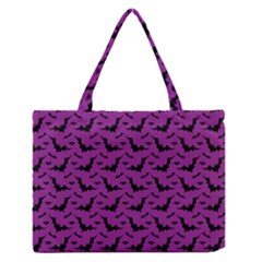 Animals Bad Black Purple Fly Medium Zipper Tote Bag by Mariart