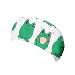 Animals Frog Green Face Mask Smile Cry Cute Yoga Headband by Mariart