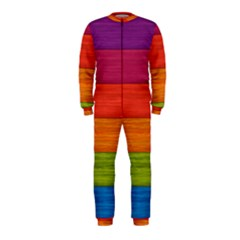 Wooden Plate Color Purple Red Orange Green Blue Onepiece Jumpsuit (kids)