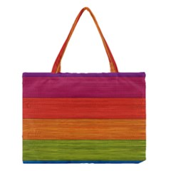 Wooden Plate Color Purple Red Orange Green Blue Medium Tote Bag by Mariart