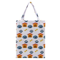 Bone House Face Dog Classic Tote Bag by Mariart