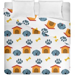 Bone House Face Dog Duvet Cover Double Side (king Size) by Mariart