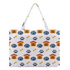 Bone House Face Dog Medium Tote Bag by Mariart