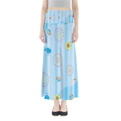 Animals Whale Sunflower Ship Flower Floral Sea Beach Blue Fish Maxi Skirts by Mariart