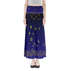Blue Star Space Galaxy Light Night Maxi Skirts
