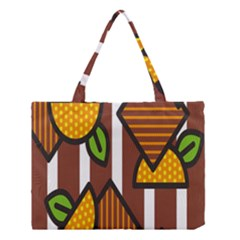 Chocolate Lime Brown Circle Line Plaid Polka Dot Orange Green White Medium Tote Bag by Mariart