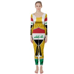 Coat Of Arms Of Iraq  Long Sleeve Catsuit by abbeyz71