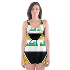 Coat Of Arms Of Iraq  Skater Dress Swimsuit by abbeyz71